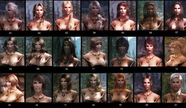 imagen de otros 21 peinados nuevos que añade el mod apachii sky hair.