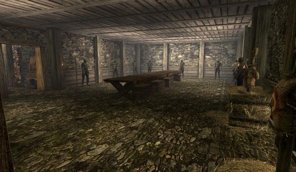 imagen de una gran sala incorporada a la casa de carrera blanca, gracias al mod Dovahkiin Hideout Skyrim.