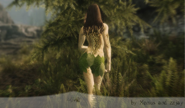 imagen de una de las dríadas que añade el mod The Dryad para Skyrim.