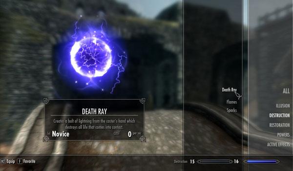 Death Ray Spell Mod