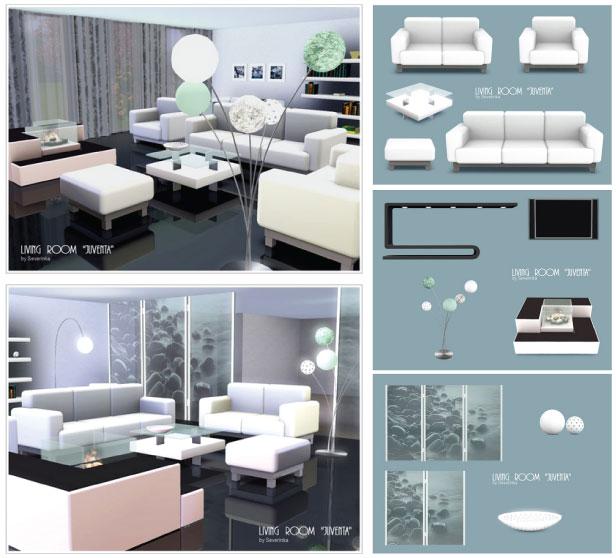 living room juveneta para los sims 3
