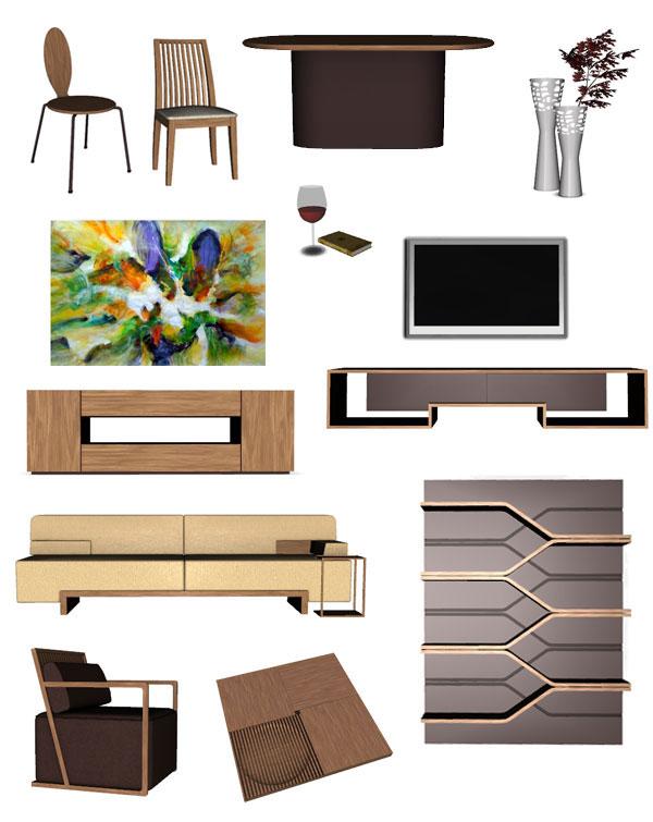 Muebles living para los sims 3 contenido