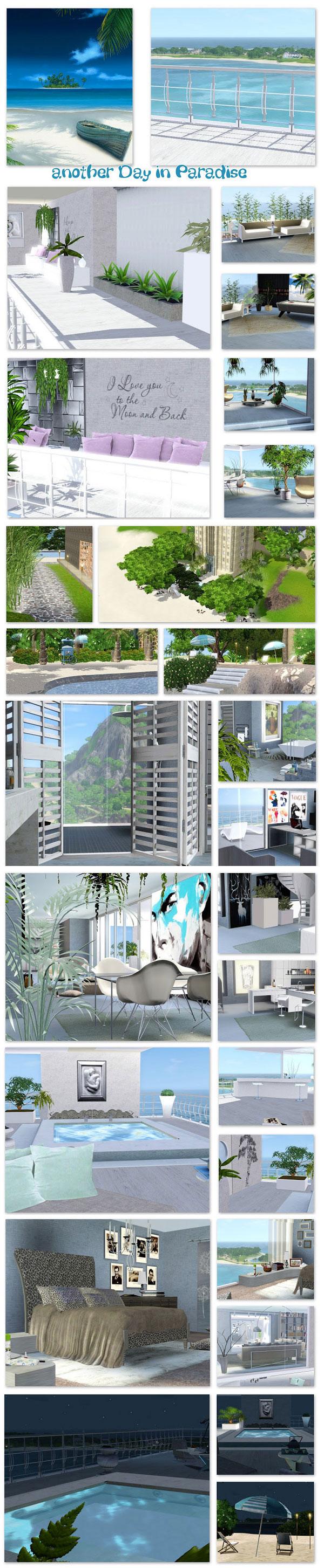 Casa paradise para los Sims 3