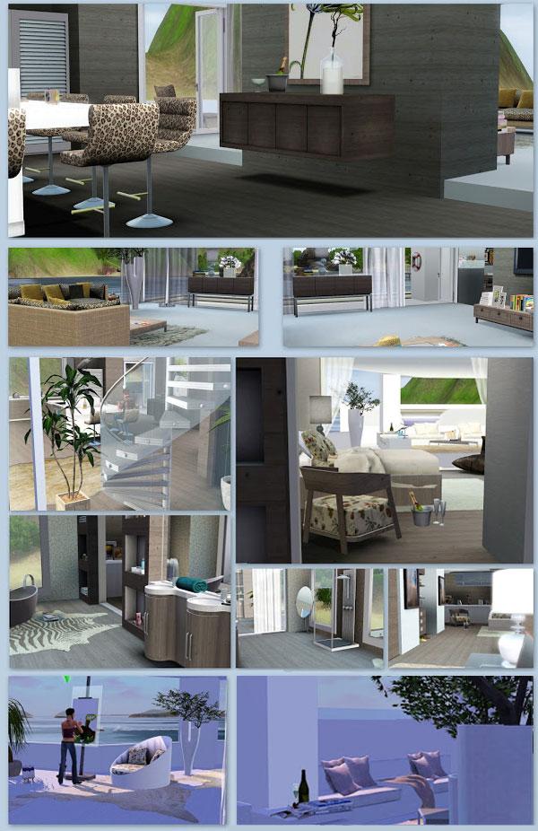 Muebles habitación para casa de diseño para Los Sims 3