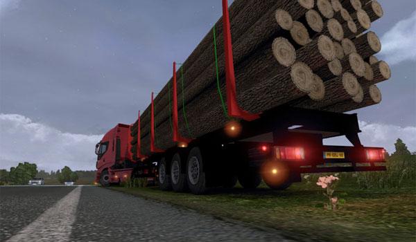 Trailer madera rojo