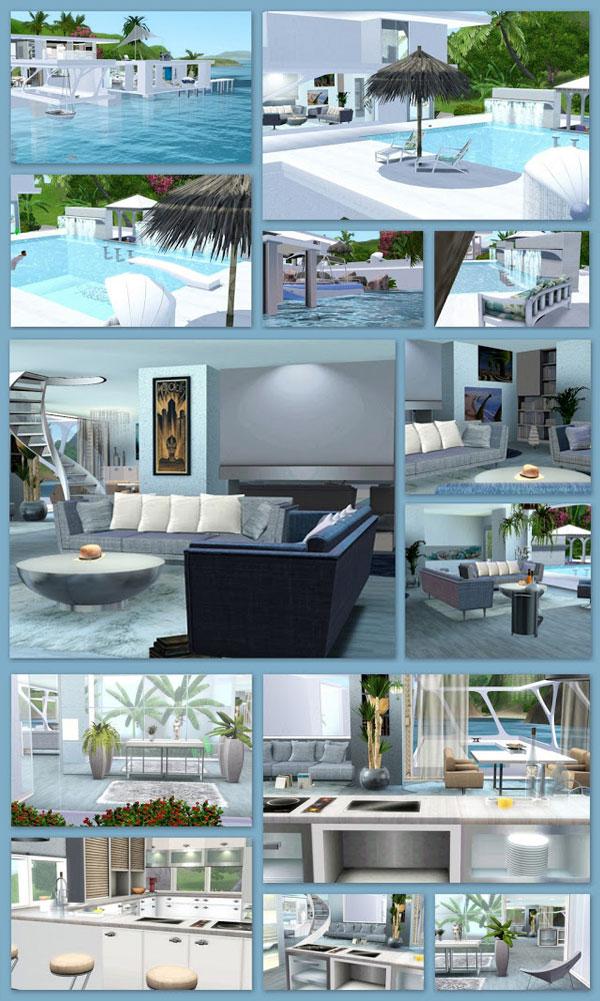 Muebles casa Summerwind para Los Sims 3