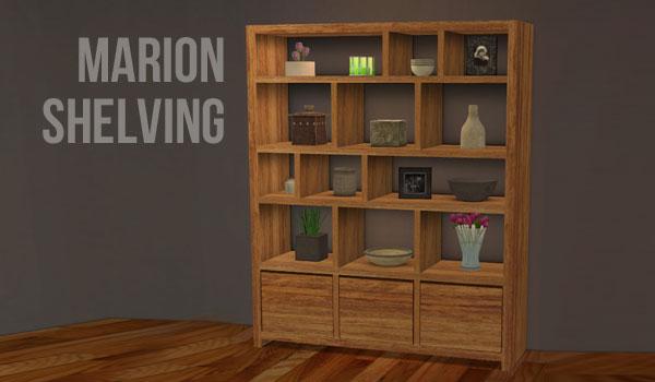 Armario cómoda con estantes Marion