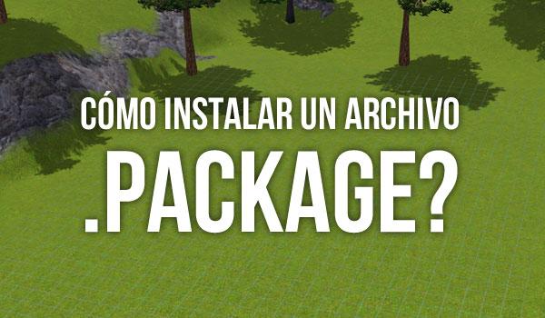 Cómo instalar archivo .package Sims 3
